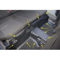 Накладки на ковролин под заднее сиденье Лада Гранта | LADA Granta с 2014 г .в. АртФорм (2 шт.)