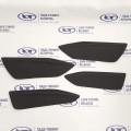 Вставки дверей (кожзам с двойной строчкой) Серая строчка - 4 шт. Лада Веста | Lada Vesta