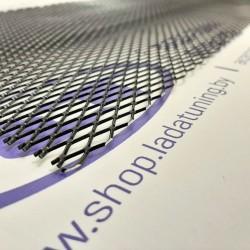 Сетка универсальная алюминиевая для защиты радиатора 100х25 см, ячейка 8х16 мм (Чёрная)