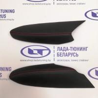 Подлокотники (2 шт.) передних дверей VTS Лада Веста (кожзам с Красной прострочкой) | Lada Vesta
