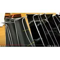 Виниловая отделка стоек (комплект) Лада Ларгус (Чёрный глянец) | Lada Largus