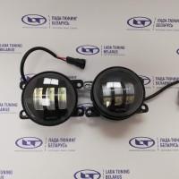 ПТФ Светодиодные (LED) 2 шт. 30Вт ДВУХРЕЖИМНЫЕ увеличенной яркости (противотуманные фары) для Лада В