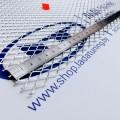 Сетка универсальная алюминиевая для защиты радиатора 100х25 см, ячейка 8х16 мм (Серебристая)