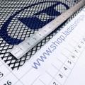 Сетка универсальная алюминиевая для защиты радиатора 100х25 см, ячейка 5х10 мм (Чёрная)