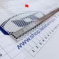 Сетка универсальная алюминиевая для защиты радиатора 100х25 см, ячейка 5х10 мм (Серебристая)