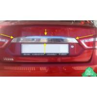 Накладка хром (НПС) 1шт. для крышки багажника Лада Веста (все модели) | Lada Vesta, sedan, SW, CROSS