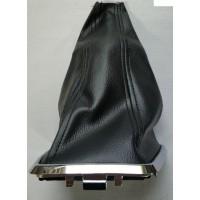 Кожух рычага КПП (чёрная нить) с хром облицовкой Лада Веста | Lada Vesta