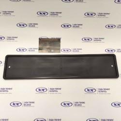 Рамка (1 шт.) госномера силиконовая чёрная (52см х 12см) DS-CARS