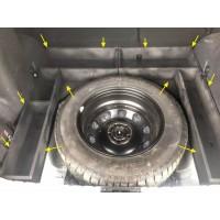 Органайзер-ящики без фальшпола (чёрные окрашенные) в нишу багажника вокруг запасного колеса Renault