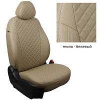Чехлы (комплект) из экокожи Премиум (1-1.2мм) РОМБ для Renault Duster 2011-2014 (зад.сиденье делится 40/60) (без подушкек безопасности), ''Автопилот''