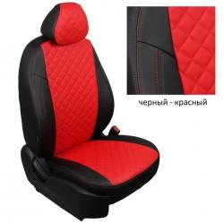Чехлы (комплект) из экокожи Премиум (1-1.2мм) РОМБ для Renault Duster 2011-2014 (без подушкек безопасности)(зад.сиденье сплошное), ''Автопилот''