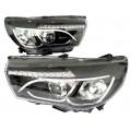 Фары (2 шт.) светодиодные линзованные тюнинг фары для Лада Веста (все модели) | Lada Vesta