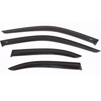 Накладные дефлекторы (ветровики) Cobra Tuning Стандарт, ширина 7 см. для Рено Дастер 2, Ниссан Террано | Renault Duster 2, Nissan Terrano