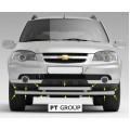 Защита переднего бампера двойная Ø63/51 мм (ППК - Серебристый) Chevrolet NIVA 2009-20 / LADA Niva Travel 2021-
