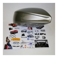 Аэродинамические накладки на боковое зеркало (242 СЕРЫЙ БАЗАЛЬТ) LADA Largus | Renault Duster | Renault Logan | Sandero | Stepway с 2012 г.в.