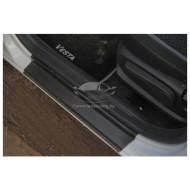 Накладки в проем дверей (комплект 4 шт.) Лада Веста | Vesta CROSS | LADA Vesta седан и универсал SW с 2016 г.в.