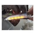 Бегающие повторители поворота в зеркало Лада Веста (Lexus Style) (комплект 2 шт.)