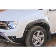 Накладки (комплект) на колесные арки Рено Дастер | Renault Duster с 2015 г.в. (рейсталинг)
