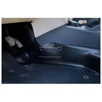 Накладки на ковролин центральные на тоннель пола 2 шт. (АБС) Renault LOGAN II | Рено Логан 2 | Sande