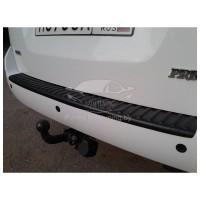 Накладка на задний бампер (АБС) Лада Приора Седан рейсталинг с 2013 г.в.